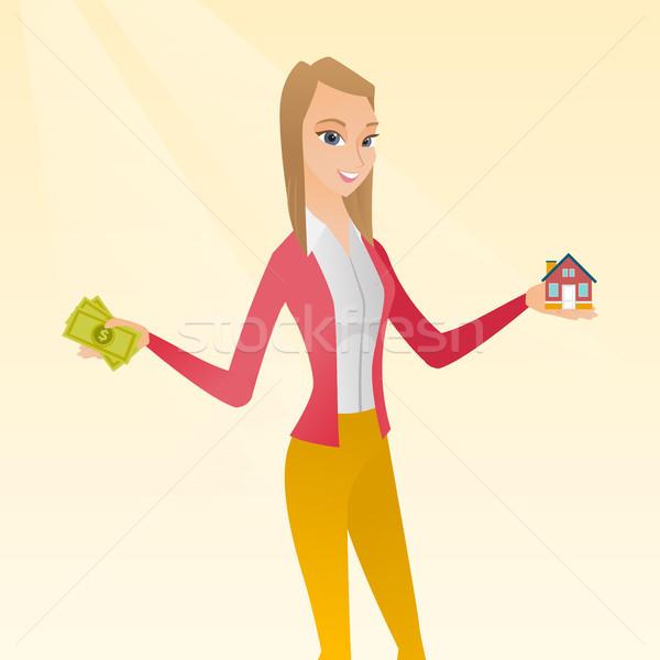 кавказский человека покупке дома спасибо заем Сток-фото © RAStudio
