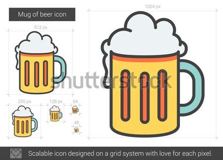 Mug of beer line icon. Stock photo © RAStudio