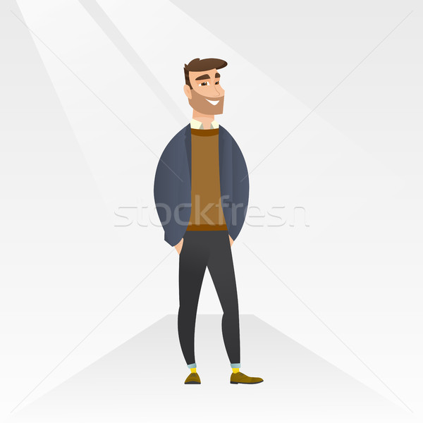 Man posing on catwalk during fashion show. Stock photo © RAStudio