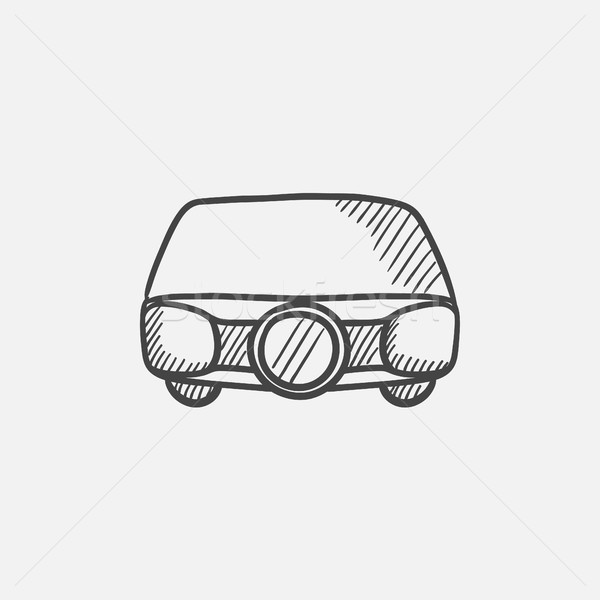 Multimedia projector sketch icon. Stock photo © RAStudio