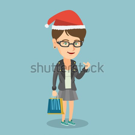 Stock photo: Young caucasian woman with injured head.