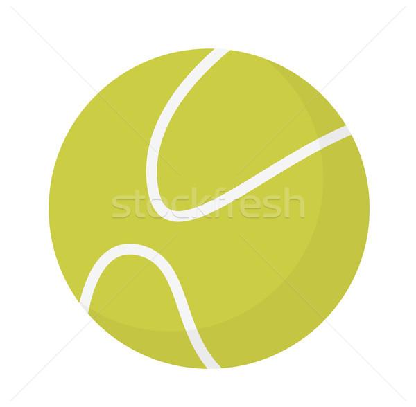 теннисный мяч вектора Cartoon иллюстрация изолированный белый Сток-фото © RAStudio