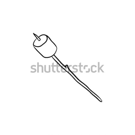 Malvavisco palo dibujado a mano boceto icono Foto stock © RAStudio