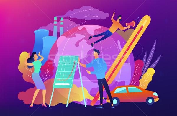 Global warming concept vector illustration. Stock photo © RAStudio