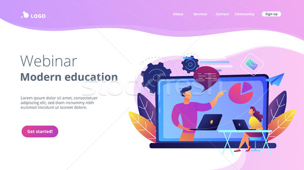 Webinar and modern education landing page. Stock photo © RAStudio