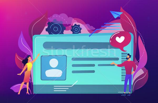 スマート イド カード 写真 ユーザー 識別 ストックフォト © RAStudio