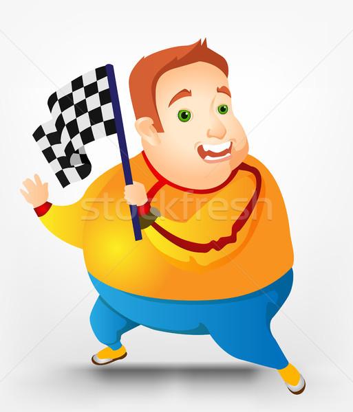ぽってり 男 スポーツ 楽しい 脂肪 ストックフォト © RAStudio