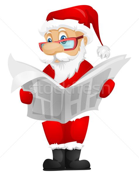 サンタクロース 孤立した グレー 勾配 ニュース ストックフォト © RAStudio