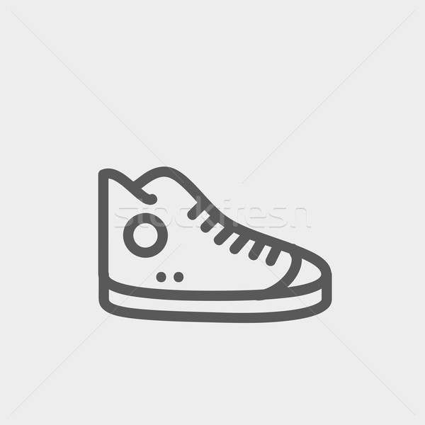 High cut rubber shoes thin line icon Stock photo © RAStudio