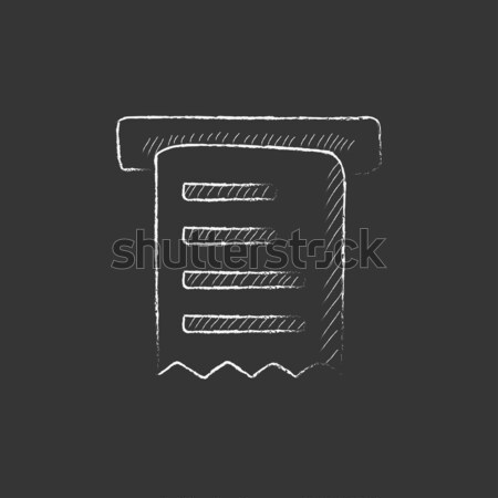 Receipt icon drawn in chalk. Stock photo © RAStudio