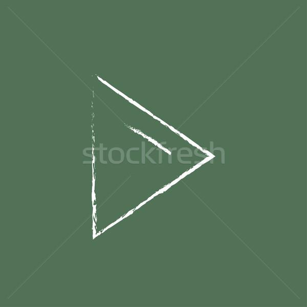Play button icon drawn in chalk. Stock photo © RAStudio