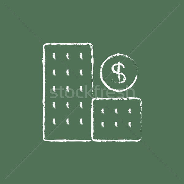 Condominium with dollar symbol icon drawn in chalk. Stock photo © RAStudio