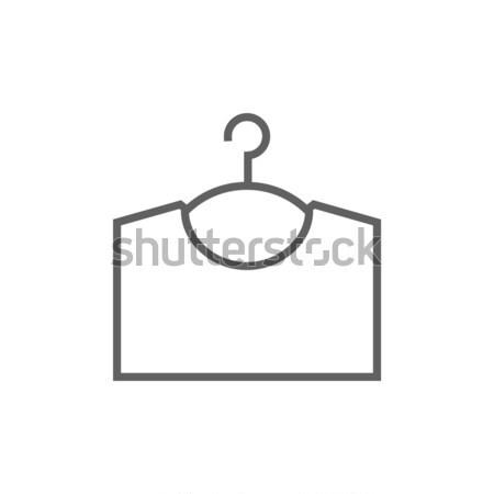 Chandail cintre ligne icône web mobiles Photo stock © RAStudio