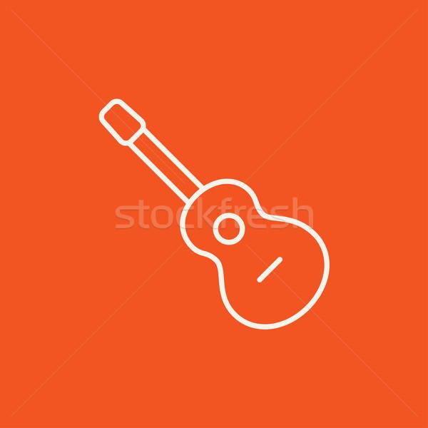 Violão linha ícone teia móvel infográficos Foto stock © RAStudio
