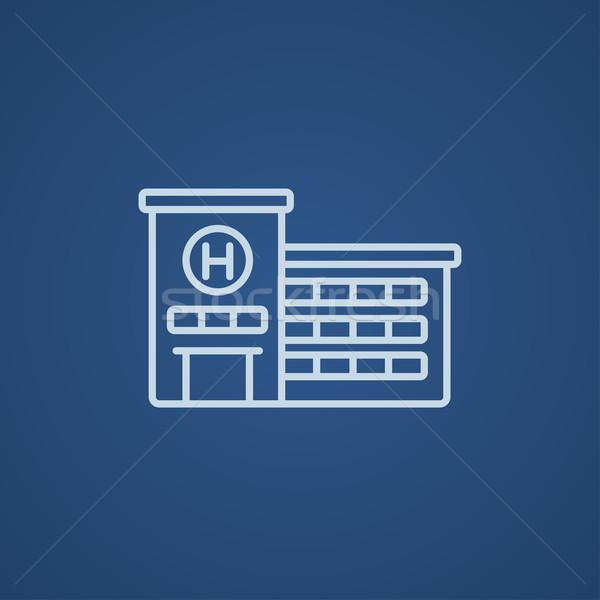 Hospital building line icon. Stock photo © RAStudio