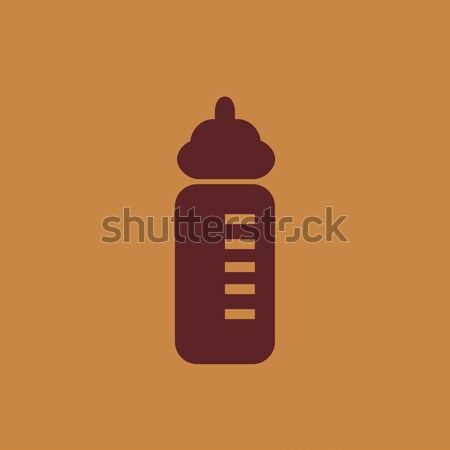 Feeding bottle line icon. Stock photo © RAStudio