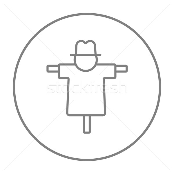 Scarecrow line icon. Stock photo © RAStudio