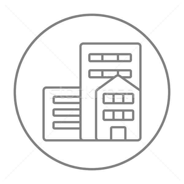 Stock photo: Residential buildings line icon.