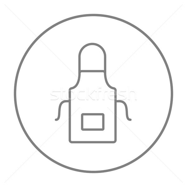 кухне фартук линия икона веб мобильных Сток-фото © RAStudio