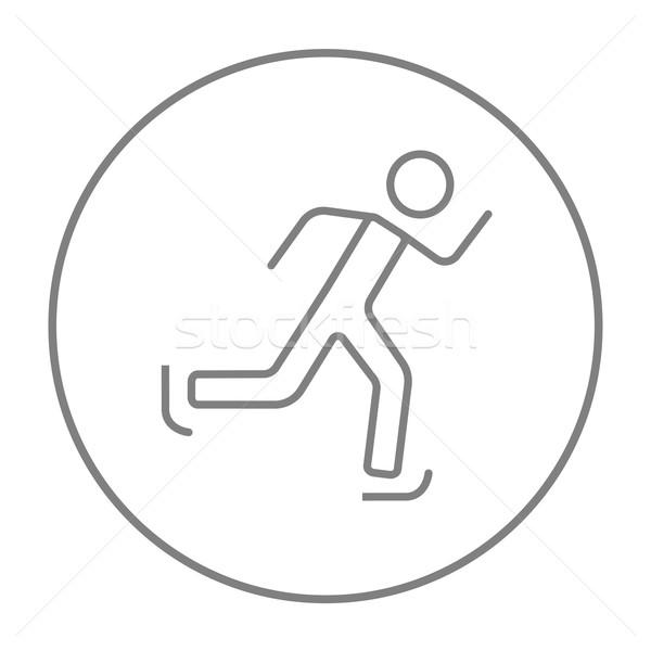 速度 スケート 行 アイコン ウェブ 携帯 ストックフォト © RAStudio