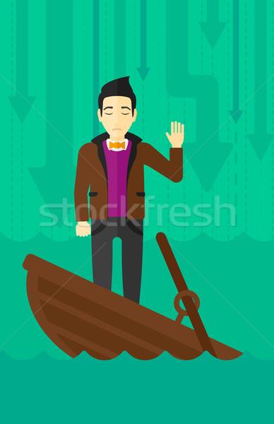 ビジネスマン 立って ボート アジア ストックフォト © RAStudio