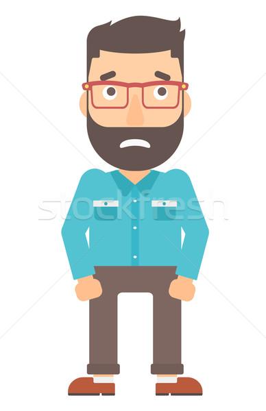 Megszégyenített hipszter férfi szakáll vektor terv Stock fotó © RAStudio