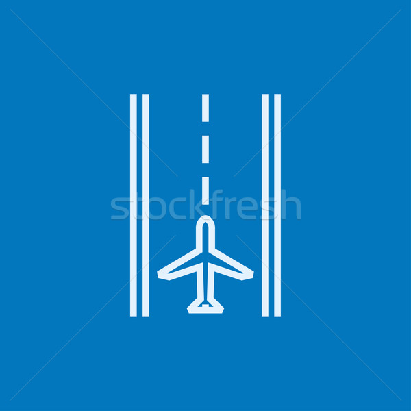 аэропорту ВПП линия икона уголки веб Сток-фото © RAStudio
