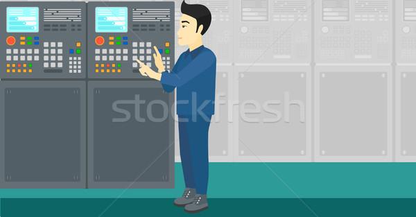 エンジニア 立って コントロールパネル アジア 男 作業 ストックフォト © RAStudio