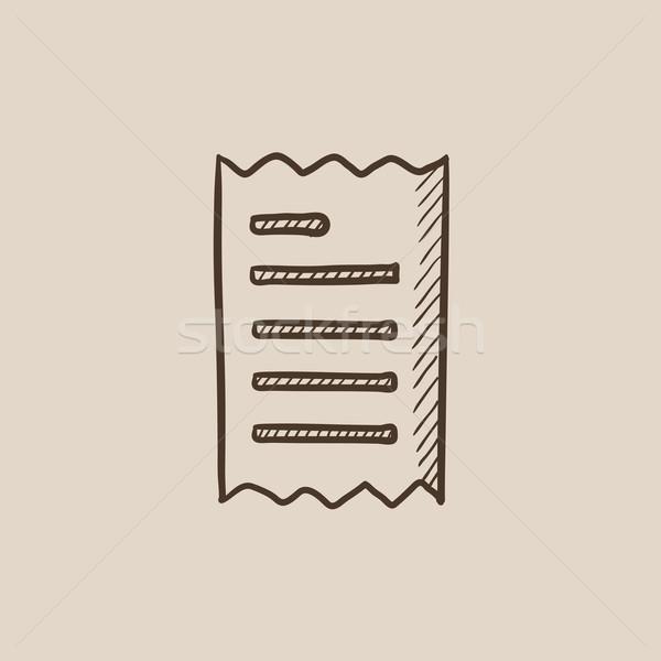 Makbuz kroki ikon web hareketli infographics Stok fotoğraf © RAStudio