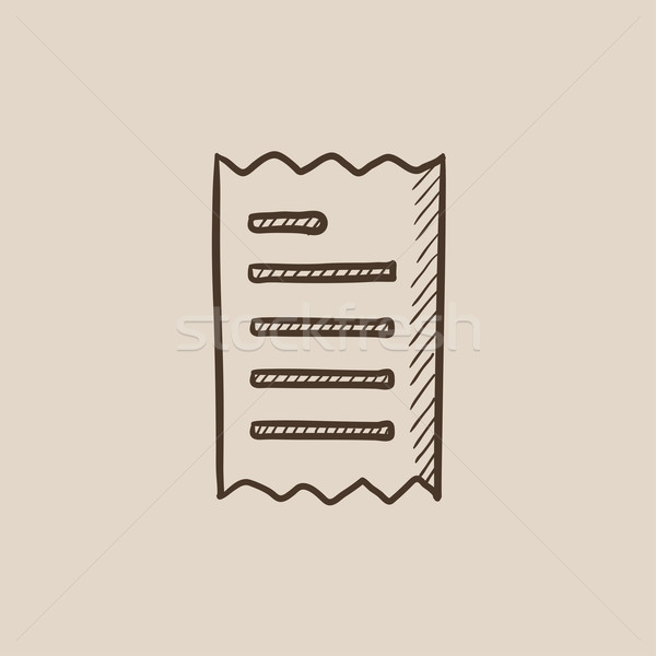 Erhalt Skizze Symbol Web mobile Infografiken Stock foto © RAStudio