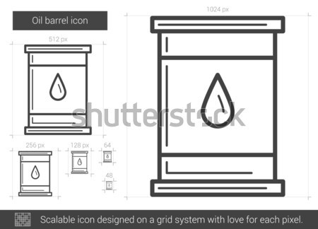 Oleju baryłkę line ikona internetowych Zdjęcia stock © RAStudio