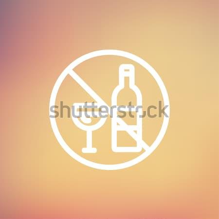 No alcohol sign line icon. Stock photo © RAStudio