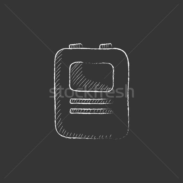 中心 除細動器 チョーク アイコン 手描き ストックフォト © RAStudio