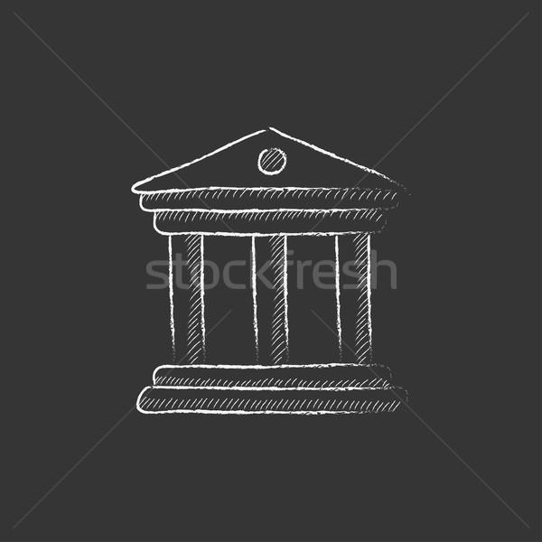 Müze tebeşir ikon vektör Stok fotoğraf © RAStudio