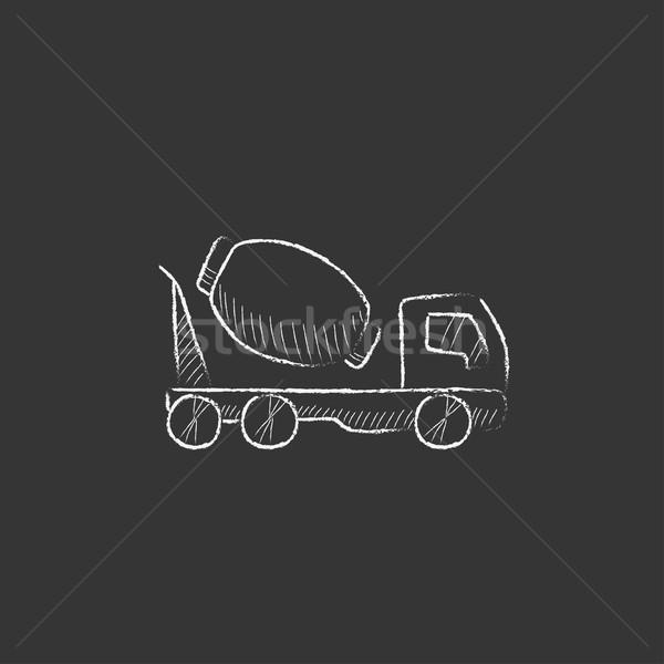 具体的な ミキサー トラック チョーク アイコン ストックフォト © RAStudio