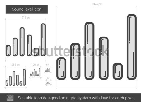 Ekolayzer kroki ikon vektör yalıtılmış Stok fotoğraf © RAStudio