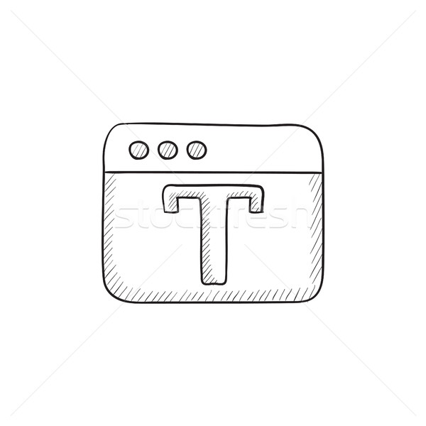 Design editor tool sketch icon. Stock photo © RAStudio