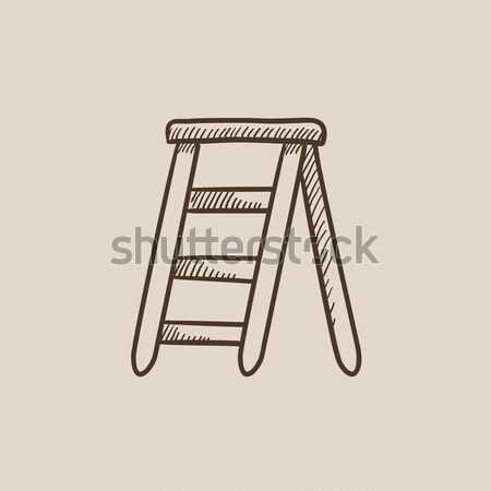 Stepladder sketch icon. Stock photo © RAStudio