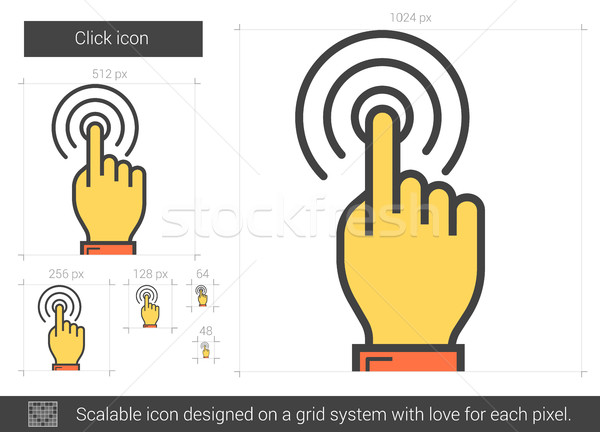 Clic línea icono vector aislado blanco Foto stock © RAStudio