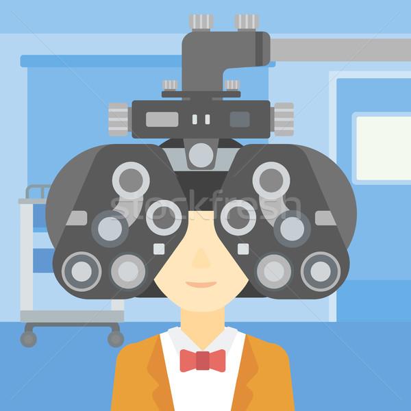 Patient oeil femme optométriste médicaux Photo stock © RAStudio