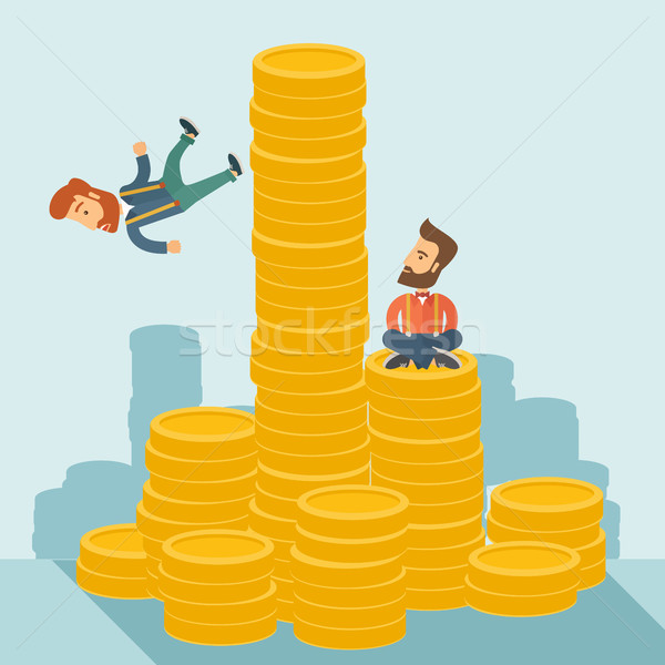 Twee zakenman gelukkig vergadering vertrouwen top Stockfoto © RAStudio
