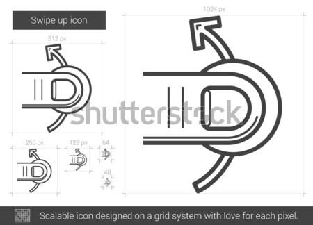 Swipe up line icon. Stock photo © RAStudio