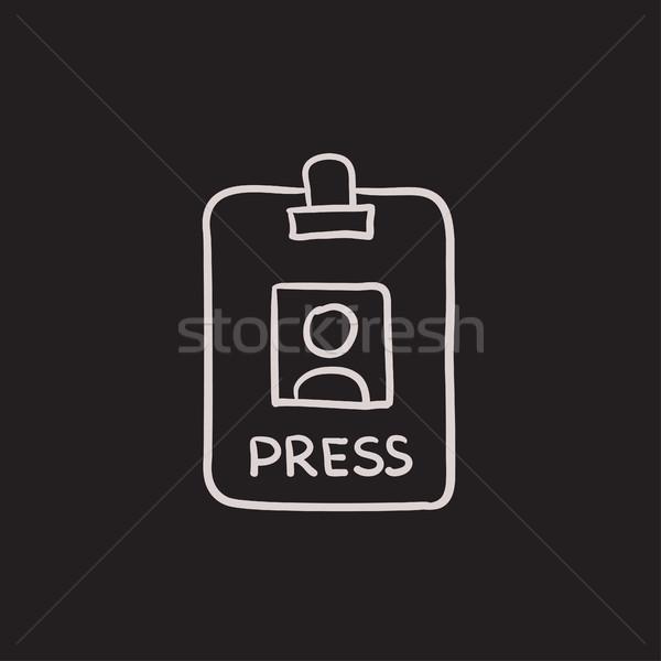 キーを押します 合格 イド カード スケッチ アイコン ストックフォト © RAStudio
