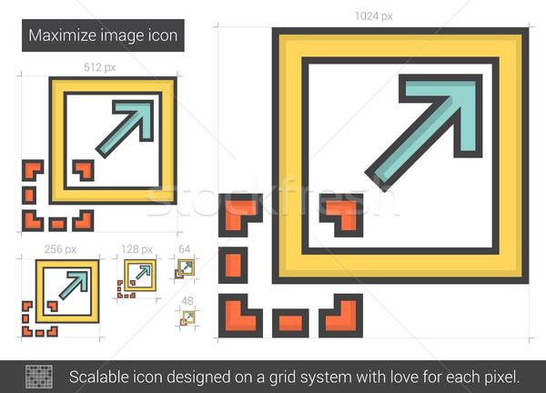 Maximize image line icon. Stock photo © RAStudio