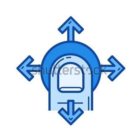 Navegação linha ícone vetor isolado branco Foto stock © RAStudio