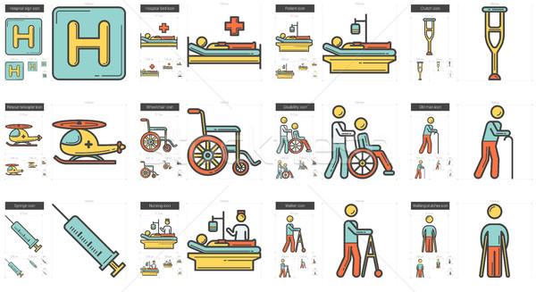 Médecine ligne vecteur isolé blanche Photo stock © RAStudio