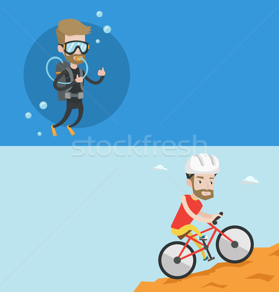 Two travel banners with space for text. Stock photo © RAStudio