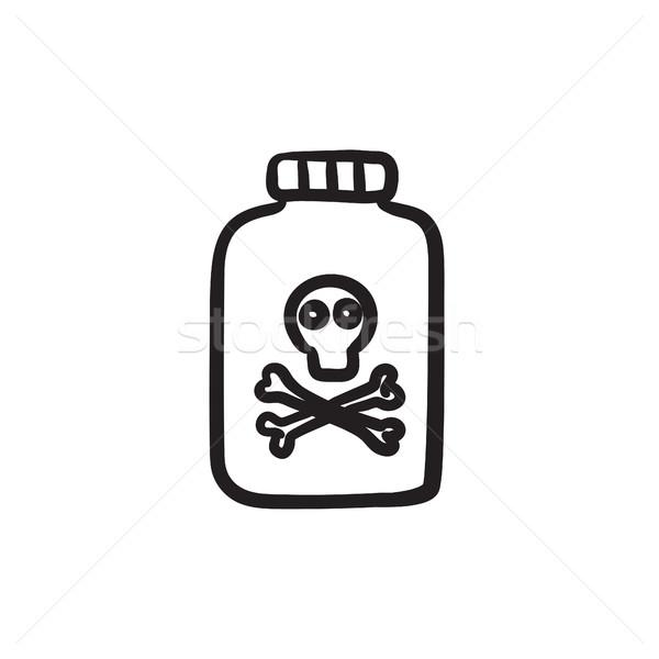 Bottiglia veleno sketch icona vettore isolato Foto d'archivio © RAStudio