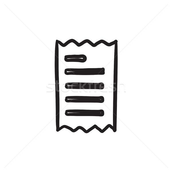 Receipt sketch icon. Stock photo © RAStudio