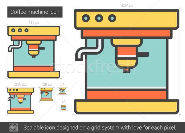 Coffee machine line icon. Stock photo © RAStudio